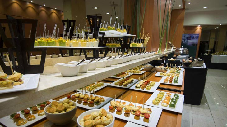 Coquetel intercontinental e grand brunch